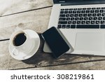work space  laptop | Shutterstock . vector #308219861
