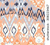 colored pattern ethnic vector... | Shutterstock .eps vector #308223467