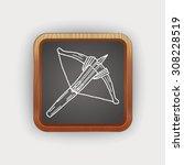 crossbow doodle | Shutterstock . vector #308228519