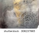 black and gold abstract...   Shutterstock . vector #308237885