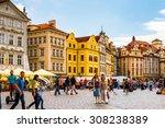 prague  czech republic   june... | Shutterstock . vector #308238389
