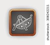 amusement park doodle | Shutterstock . vector #308242211