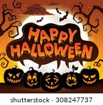 happy halloween topic image 8   ... | Shutterstock .eps vector #308247737