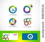 vector company logo icon... | Shutterstock .eps vector #308250131