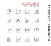 business graph icons | Shutterstock .eps vector #308253731