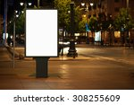 blank advertising billboard in... | Shutterstock . vector #308255609