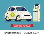 electric subcompact vehicle... | Shutterstock .eps vector #308256674