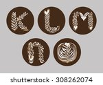coffee art decorative... | Shutterstock .eps vector #308262074