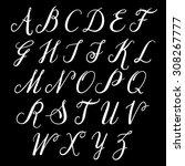 alphabet letters  uppercase.... | Shutterstock .eps vector #308267777