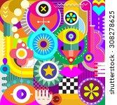 abstract art vector... | Shutterstock .eps vector #308278625