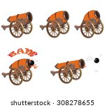 a vector cannons for you... | Shutterstock .eps vector #308278655