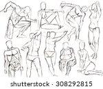 classic black and white pencil... | Shutterstock . vector #308292815