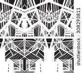 vector hand drawn seamless... | Shutterstock .eps vector #308293811