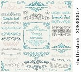 decorative vintage colorful... | Shutterstock . vector #308300057