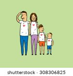 happy family. | Shutterstock . vector #308306825