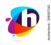h letter with ellipses... | Shutterstock .eps vector #308307281