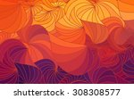 abstract vector floral colorful ... | Shutterstock .eps vector #308308577