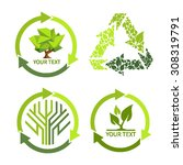 green  icons | Shutterstock .eps vector #308319791