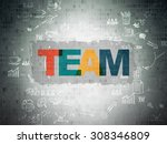 business concept  team on... | Shutterstock . vector #308346809