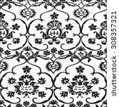 vector seamless floral pattern... | Shutterstock .eps vector #308357321