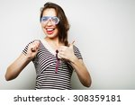 party image. playful young... | Shutterstock . vector #308359181