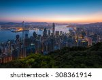 watching sunrise on the... | Shutterstock . vector #308361914