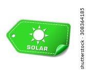 solar green vector icon design | Shutterstock .eps vector #308364185