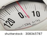 Stock photo weight scale 308365787