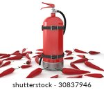 fire extinguisher with chili... | Shutterstock . vector #30837946