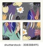 set of creative universal... | Shutterstock .eps vector #308388491