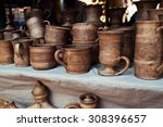 traditional pottery craft   cup ...   Shutterstock . vector #308396657