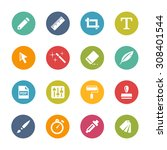creative icons  circle series | Shutterstock .eps vector #308401544