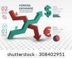 3d abstract arrow banner... | Shutterstock .eps vector #308402951