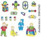 baby boy illustrations | Shutterstock . vector #30841960