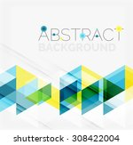 abstract geometric background.... | Shutterstock . vector #308422004