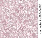 seamless lace floral background | Shutterstock .eps vector #308426735