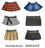 collection of mini skirt... | Shutterstock . vector #30843445