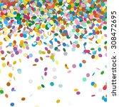 confetti background template  ...   Shutterstock .eps vector #308472695