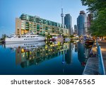 cn tower and toronto harbour... | Shutterstock . vector #308476565