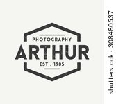photography badge logo template | Shutterstock .eps vector #308480537