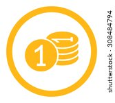 coins vector icon. this flat... | Shutterstock .eps vector #308484794