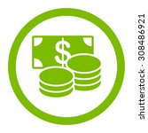 cash vector icon. this flat... | Shutterstock .eps vector #308486921