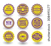 set of designed labels and tags ... | Shutterstock .eps vector #308495177
