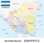 nicaragua administrative map... | Shutterstock .eps vector #308499515