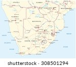 Road Map Of Southern Africa