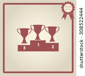 vector champions cup icons  | Shutterstock .eps vector #308522444