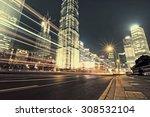 beautiful night view of... | Shutterstock . vector #308532104