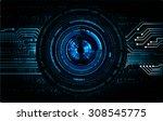 dark blue color light abstract... | Shutterstock .eps vector #308545775