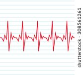 heart beat cardiogram icon | Shutterstock .eps vector #308561261