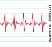 heart beat cardiogram icon | Shutterstock .eps vector #308561261